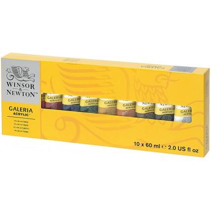 W&N GALERIA ACRYLIC COLOR 60ml TUBE SET