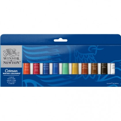 W&N COTMAN WATER COLOR 8ml TUBE SET